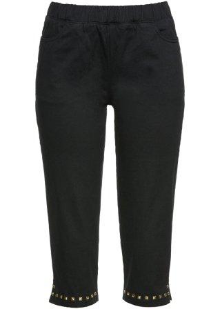 I prezzi più bassi Pantaloni capri con borchie dorate
