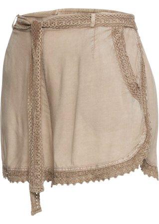 Shorts con pizzo e cintura