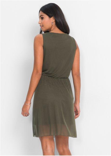 Abito a strati molto femminile - Verde oliva scuro SZ6zPegd