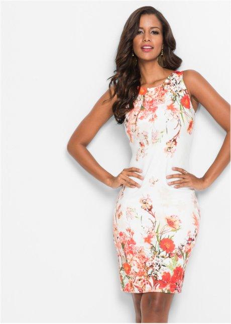 Abito a tubino in fantasia a fiori Bianco / rosso - Donna - BODYFLIRT boutique - bonprix.it ECQZhdNj