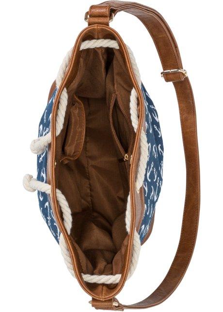 Deliziosa borsa a sacco con fantasia di ancore - Blu Dt2wWou4