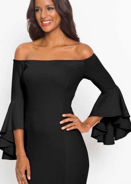 Abito con spalle scoperte e maniche a campana Nero - BODYFLIRT boutique acquista online - bonprix.it KJYK2AWq