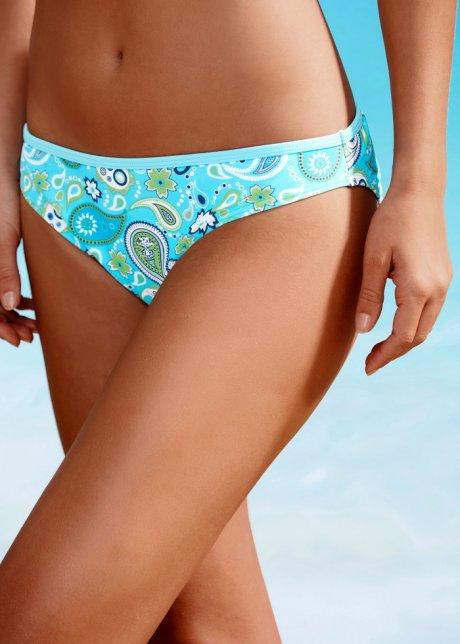 Bikini con ferretto e coppe leggermente imbottite - Turchese / bianco Coppa B 908ceneZ