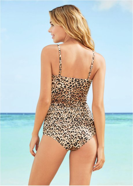 Tankini con mesh Leopardato marrone / nero - RAINBOW acquista online - bonprix.it MeN1wzQU