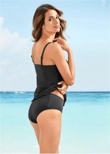 Slip per bikini con cuciture sul davanti - Nero VO4CPsAL
