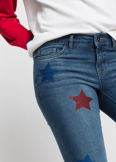 Jeans skinny trendy dal taglio corto in fantasia a stelle - Blu stone srpcGJa4