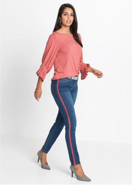 Jeans aderenti con bande laterali a contrasto - Blu stone 2glPrkcq