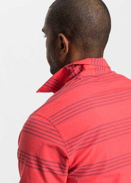 Bella camicia a maniche corte con motivi a righe - Aragosta / blu scuro a righe X133m7Yh