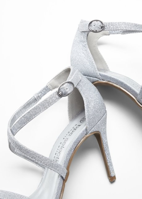 Sandali con fascette sottili - Argento p4WIFMsv