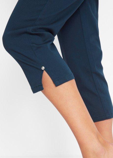 Pinocchietti elasticizzati e modellanti con spacchetti a fondo gamba e volant alle tasche anteriori - Blu scuro HlKuM2LZ