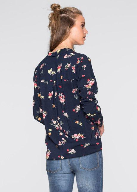 Blusa incrociata Blu scuro a fiori - Donna - RAINBOW - bonprix.it bQXsGRfZ