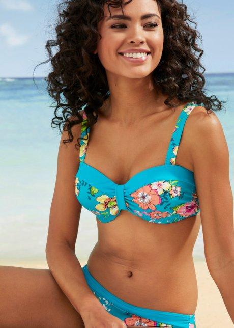 Bikini attraente con reggiseno a balconcino - Turchese fantasia Coppa C bh7rqc7b