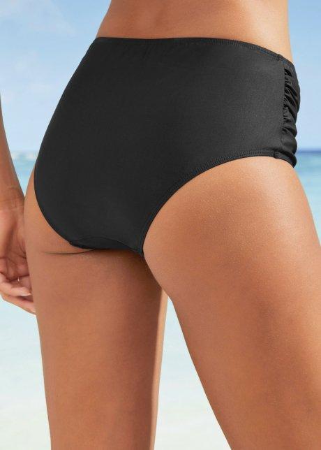 Slip per bikini dal taglio che mimetizza le curve con effetto modellante - Nero A9sbiTuf
