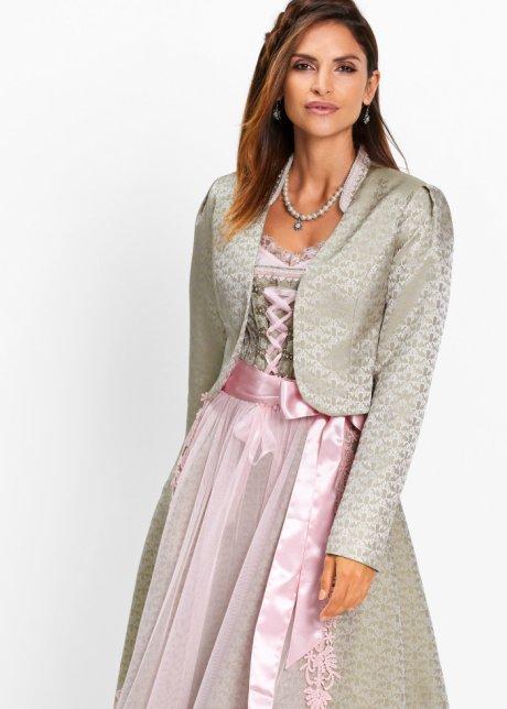 Bolero Kaki scuro / rosa chiaro fantasia - bpc selection premium - bonprix.it CbW3YXYZ