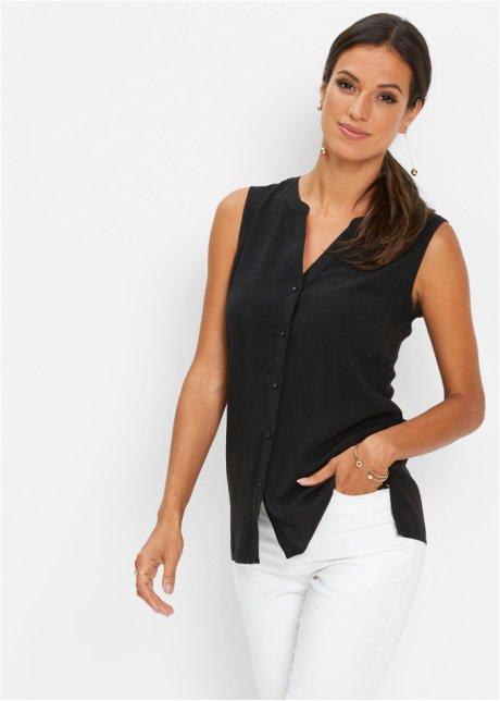 Blusa elegante con scollo a V - Nero o417oum4