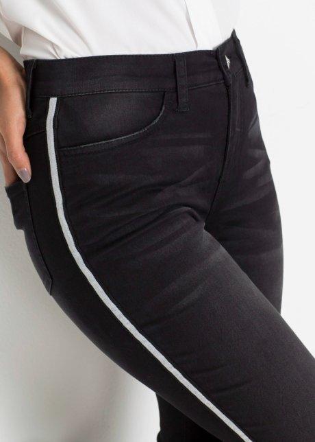 Jeans elasticizzati moderni con bande a contrasto - Nero used tzk5Ha3D