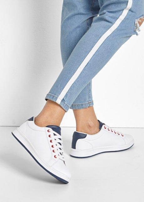 Sneaker sportive con lacci - Bianco / blu scuro 8ZUBpj0f