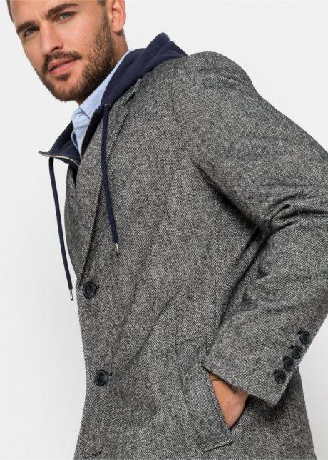 Cappotto corto Nero / bianco melange - Uomo - bpc selection - bonprix.it LHyuZg2V