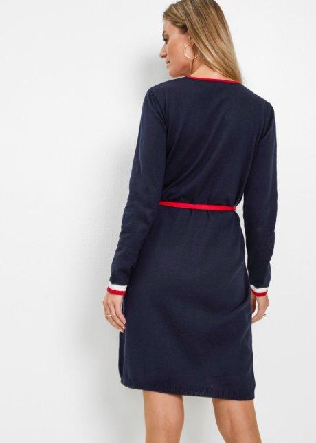 Abito in maglia a portafoglio Blu scuro / bianco / beige / rosso - Donna - bonprix.it 6QjCk3kY