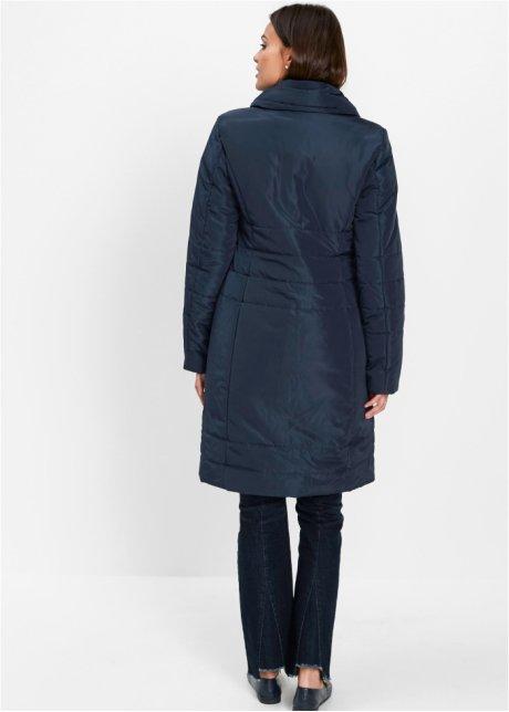 Giaccone trapuntato con collo a scialle - Blu scuro YuS97990