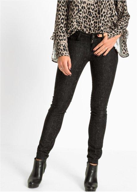 Jeans skinny con lavaggio pitonato Nero denim - RAINBOW - bonprix.it WrEjUIkP