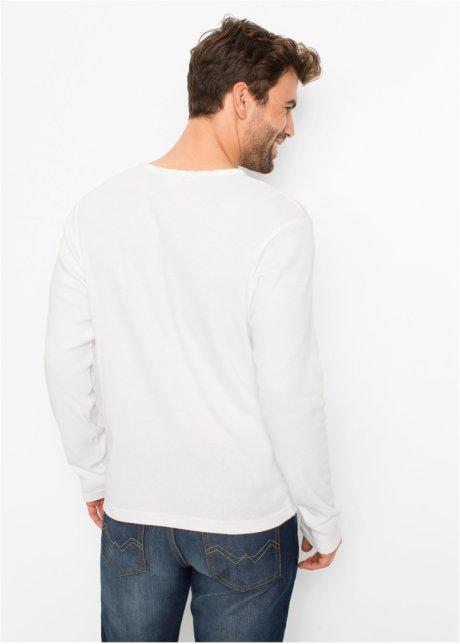 Maglia serafino a maniche lunghe. Bianco panna - Uomo - bonprix.it pHRCMYg4