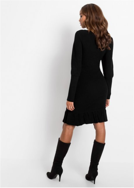 Abito in maglia con volant Nero - BODYFLIRT boutique acquista online - bonprix.it CBhGK8vI