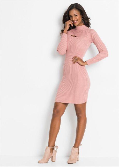 Abito in maglia a coste con cut-out Rosa - BODYFLIRT boutique acquista online - bonprix.it hRapAMLA