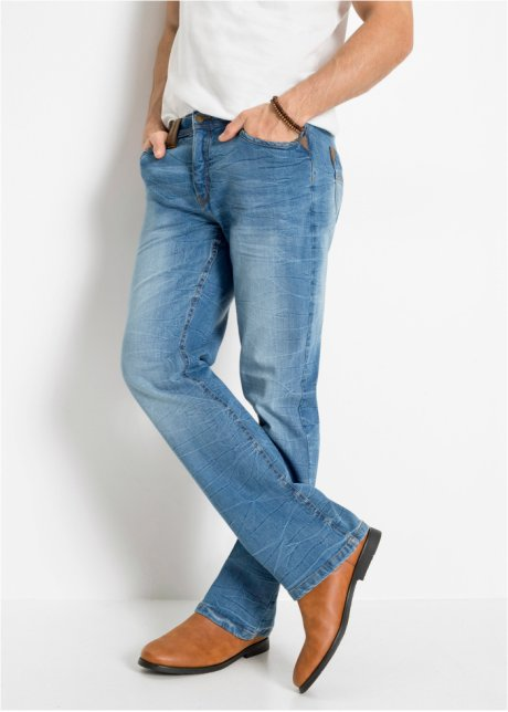 Jeans elasticizzati slim fit bootcut Blu stone - Uomo - bonprix.it Z9X4XWFD