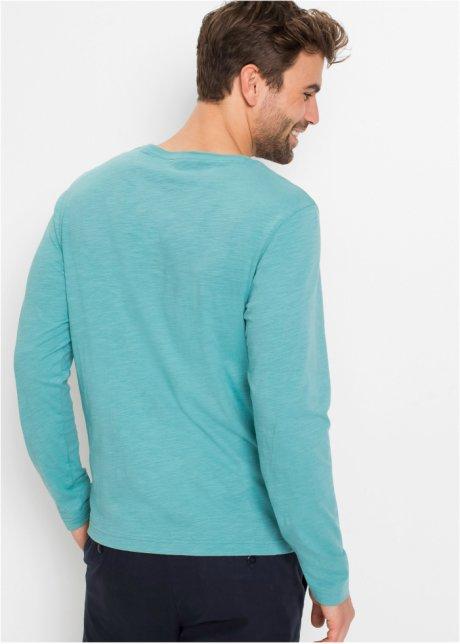 Maglia a maniche lunghe in colori moda - Verde mare stampato OrNKTQvV
