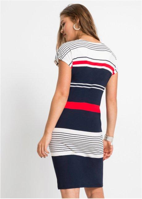 Abito in jersey a righe Blu scuro / bianco / rosso a righe - Donna - bonprix.it csb47ihR