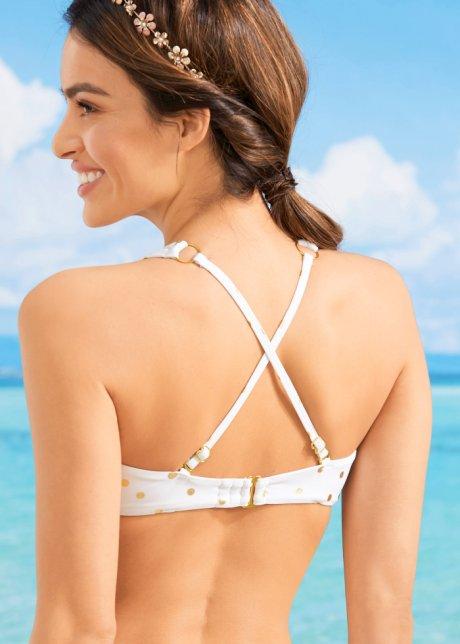 Bikini trendy con slip ridotto - Crema / oro a pois iq4GmnIL
