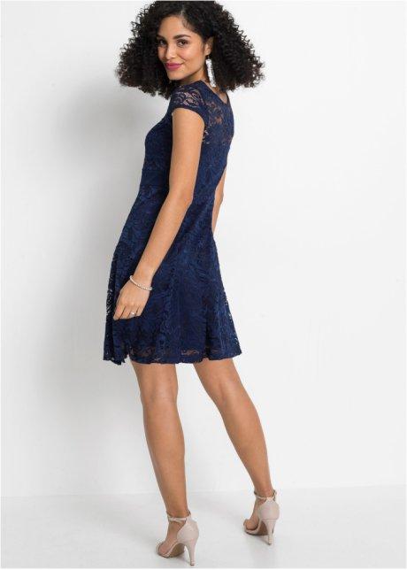 Incantevole abito con nastro in vita - Blu scuro WPei3SoN