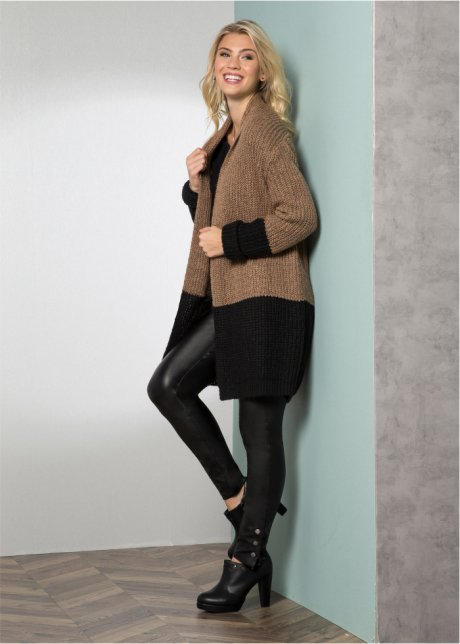 Cardigan lungo color block Beige / nero - RAINBOW acquista online - bonprix.it 5IkMP59s