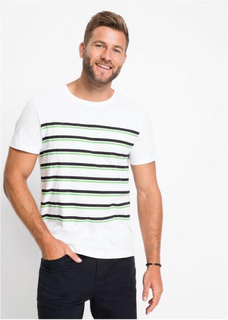 T-shirt con righe stampate e scollo rotondo - Bianco a righe DfhKSxHJ