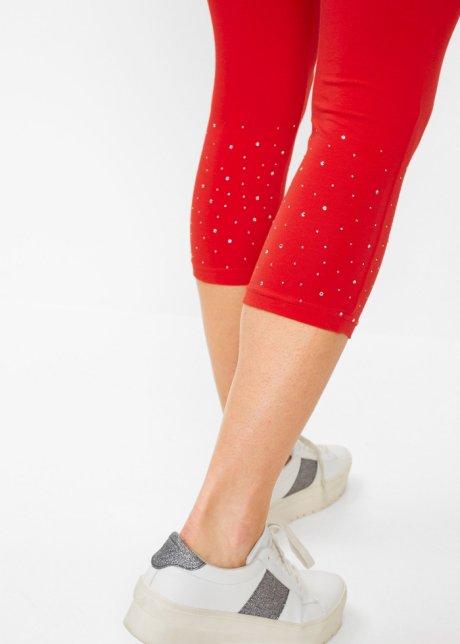 Leggings capri attraenti con strass scintillanti - Fragola / argento aaN9SitV