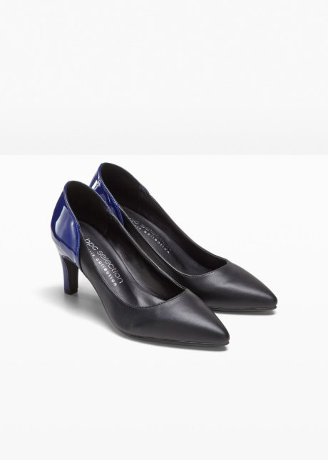 Décolleté raffinate con tacco a stiletto e mix trendy di colori - Nero / blu scuro rrgpXNkf