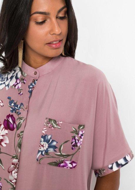 Camicetta oversize fantasia Legno di rosa a fiori - BODYFLIRT acquista online - bonprix.it glkFE1JX