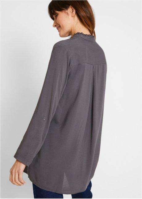 Blusa fluente dal bel taglio in materiale sostenibile - Ardesia ftz2sGTn