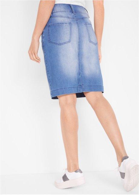 Comoda gonna di jeans in tessuto sostenibile - Blu stone roKFKBct