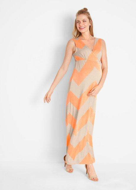 Abito in jersey molto femminile prémaman e per l'allattamento - Arancione crema / beige 3evyyRza