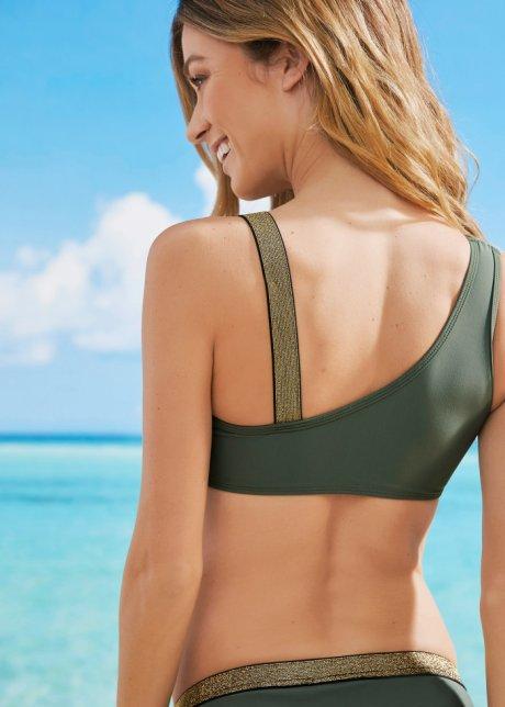 Bikini a fascia sportivo con spalline raffinate - Verde oliva oY18rBZk