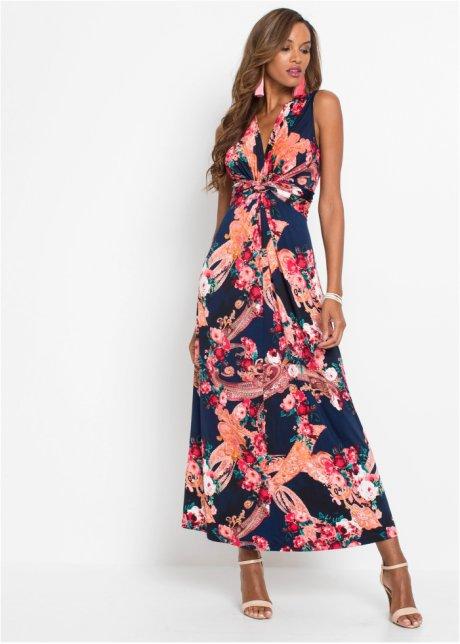 Abito lungo con incrocio Blu scuro / magenta / corallo a fiori - BODYFLIRT boutique acquista online - bonprix.it n4whOg5C