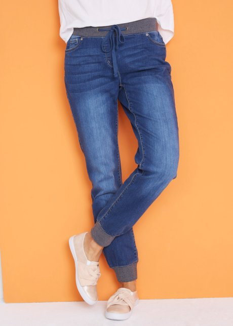 Jeans ampi con bordi a costine - Blu stone W6z7ZMl9
