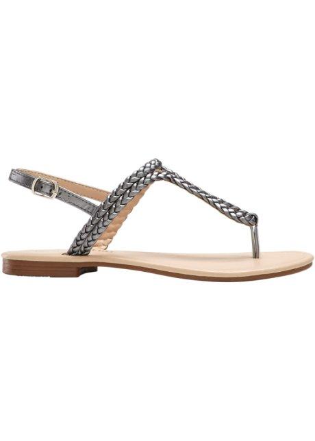 Sandali con fascette intrecciate - Grigio metallizzato LTtngtqd