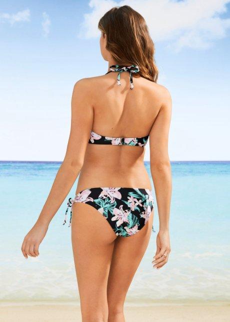 Bikini a fascia carezzevole in bella fantasia floreale - Nero a fiori 5FfkV9Zg