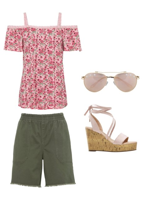 Shorts con frange Verde oliva - Donna - RAINBOW - bonprix.it izjqRFqZ