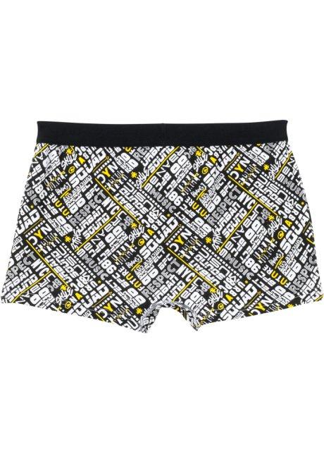 Boxer in fantasia trendy - Nero / giallo limone / bianco fantasia 4Ifw0qS0