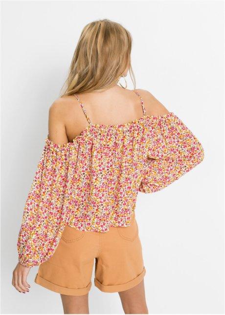 Blusa con spalle scoperte Crema / rosso a fiori - RAINBOW acquista online - bonprix.it W48dbVZY