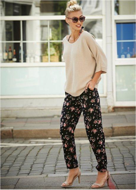 Pantaloni stilosi dal taglio ampio in fantasia cool - Nero fantasia UxE7UgW3